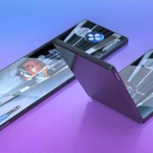Компания Sharp показала свой прототип складного смартфона